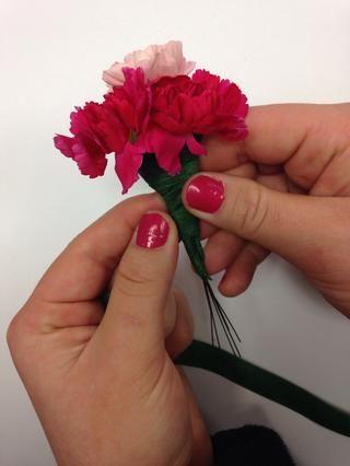 Cinta floral las diferentes flores juntas.