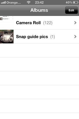 Ok ahora eliminar un álbum. Haga clic en el botón Editar en la esquina superior derecha.