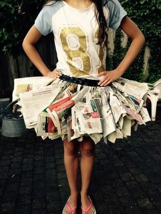 Ahora tu're done! You can use this skirt as a dance costume or wear it when you go to a carnival party for example...
