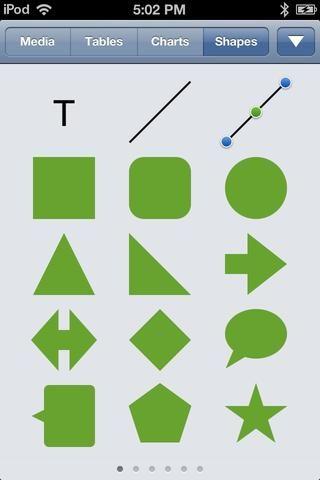 Pulse sobre la pestaña formas y seleccionar la forma de la línea (el segundo icono de la izquierda en la fila superior.