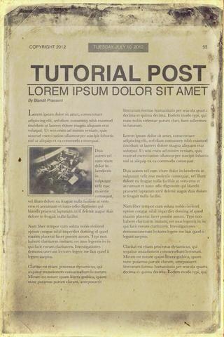Este fue el primer periódico que he hecho.