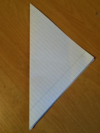 Ahora debería tener este aspecto! Cuando u desdoblarla debería ab un cuadrado!