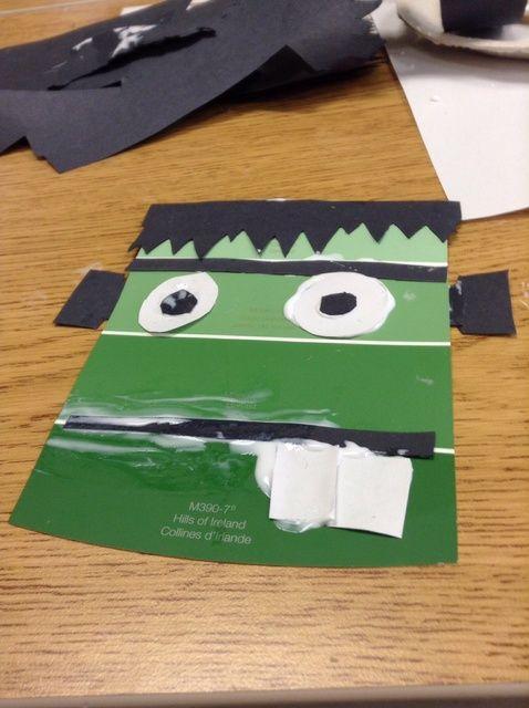 Cómo hacer una pintura de la viruta de Frankenstein