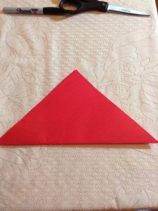 Coloque el triángulo con el lado largo en la parte inferior.