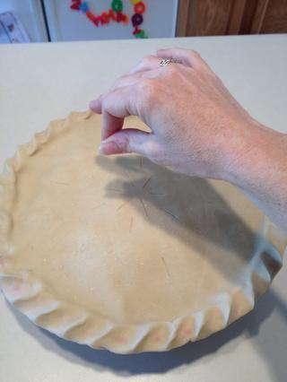Después de cortar con un cuchillo, espolvorear la parte superior con azúcar. Esto hace que la chispa corteza cuando've finished baking!