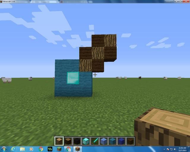 Siguiente quiere tomar 4 Oscuros tablones de madera de roble y 3 bloques de madera, y hacer esto.