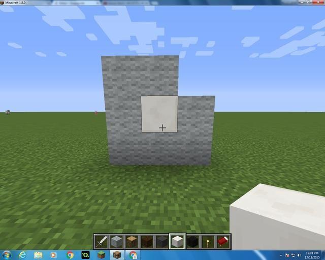 Entonces sólo tiene que añadir un bloque de cuarzo en el centro.