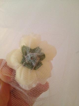 Para mayor puntada flowers- alrededor de la flor para que se sienta de manera uniforme y asegúrese de ir a través de algunos de los pétalos.