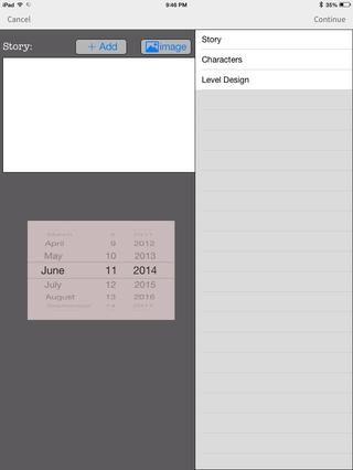 Esta es una aplicación de juegos Documento de Diseño. Me ayuda a escribir un documento de diseño para mi juego! A pocos minutos de trabajo.