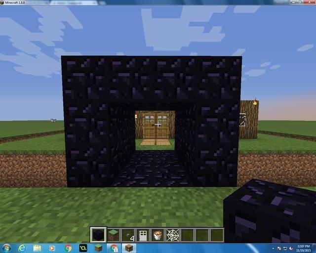 Entonces usted quiere cubrirlo como un refugio, construir tres bloques de modo que hay espacio para las dos puertas de hierro. A cada lado dejarlo abierto.