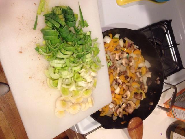 Puerros Added to resto de verduras.