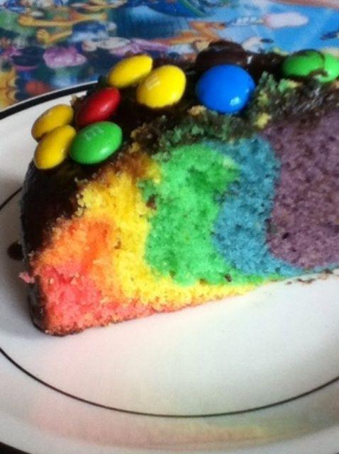 Cómo hacer una Receta Rainbow Cake