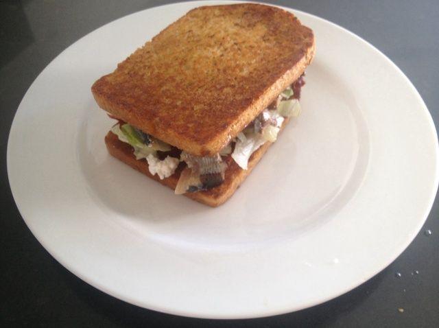 Cómo hacer una Receta Sandwich Sardina