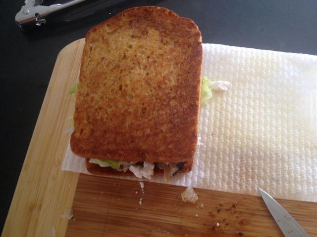 Cierre el sándwich.