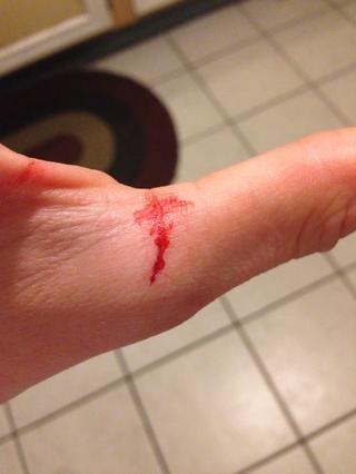 Como he dicho, mustn't cut yourself.