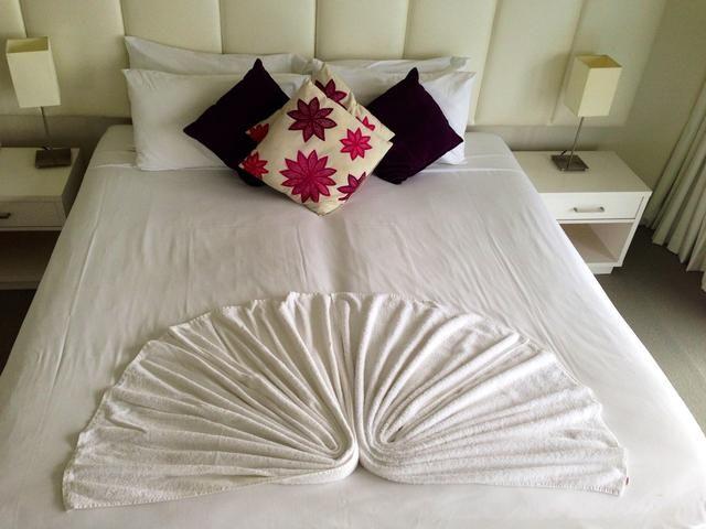 También puede usar dos toallas de cama doble.