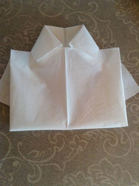 Cómo hacer una camisa-Servilleta