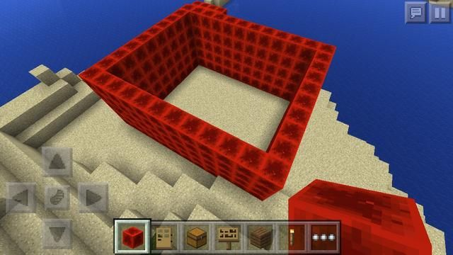 Lo hice 5-block-alto, pero lo importante es DON'T DO ANY WINDOWS OR DOORS WE DON'T WANT LIGHT TO GET INSIDE