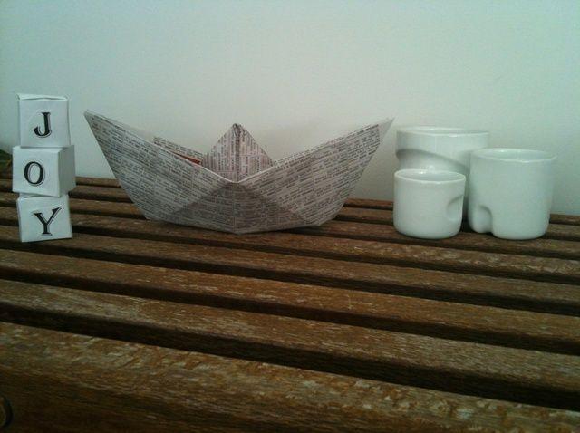 Cómo hacer un simple papel de Origami Barco