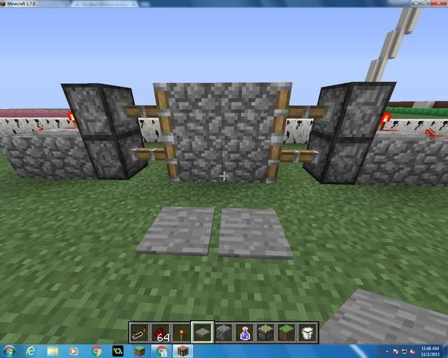 Después de cubrir el agujero, usted quiere poner dos placas de presión exactamente a una cuadra de distancia de los bloques de adoquines 4.