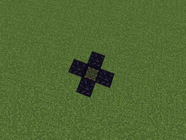 Colocar cualquier tipo de bloque en la parte superior de cada redstone.
