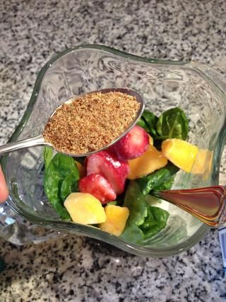 Agregar a cualquier proteína o de salud bonos extra (me gustaría añadir una cucharadita de semillas de lino molidas!)