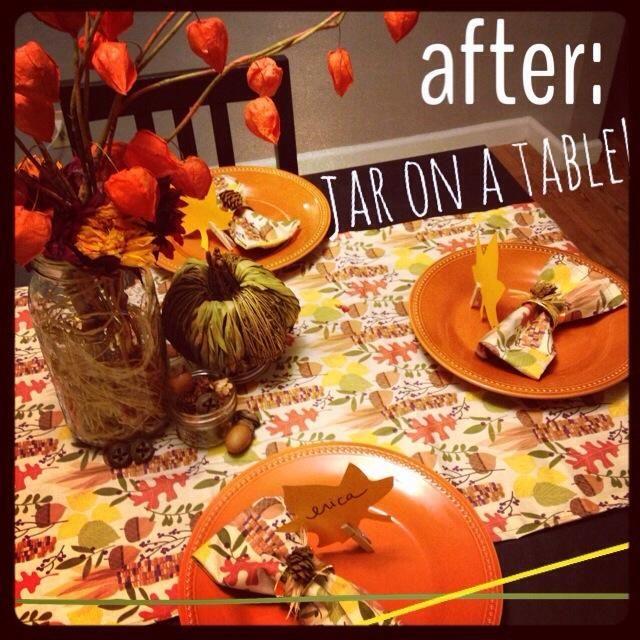 Todo lo que necesitas es añadir flores en el frasco y le fijan para una hermosa mesa de temporada!