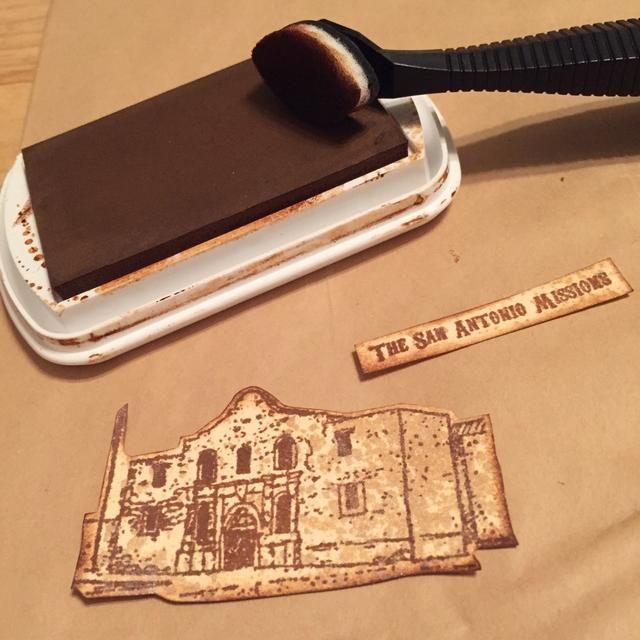 cortar pedazos y los bordes de socorro con la castaña Roan Tiza Tinta