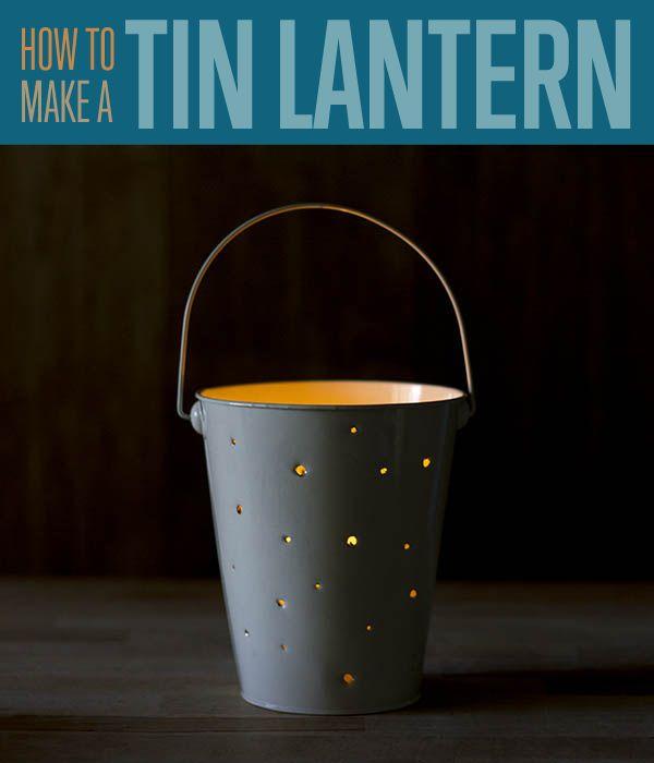 Cómo hacer una linterna de estaño | Linterna bricolaje