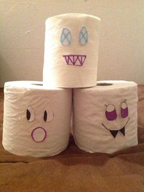 Cómo hacer una cara del papel higiénico para su Halloween