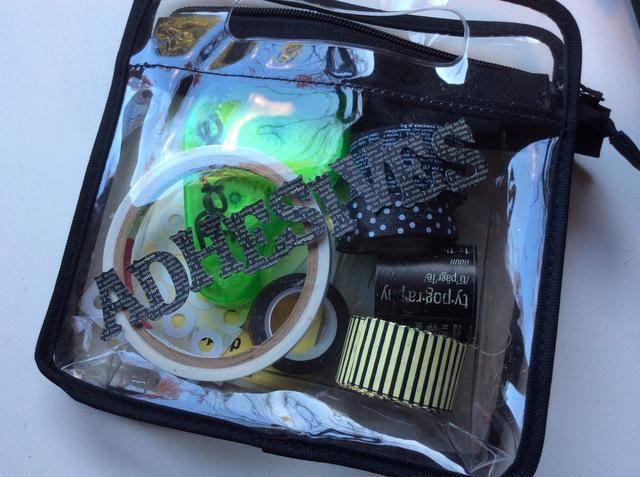 También upcycled un caso cosmética clara para albergar mis adhesivos.