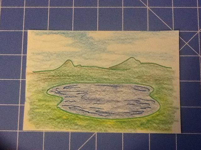 Ahora, para ser creativo! Dibujar y colorear un fondo o elegir una foto.
