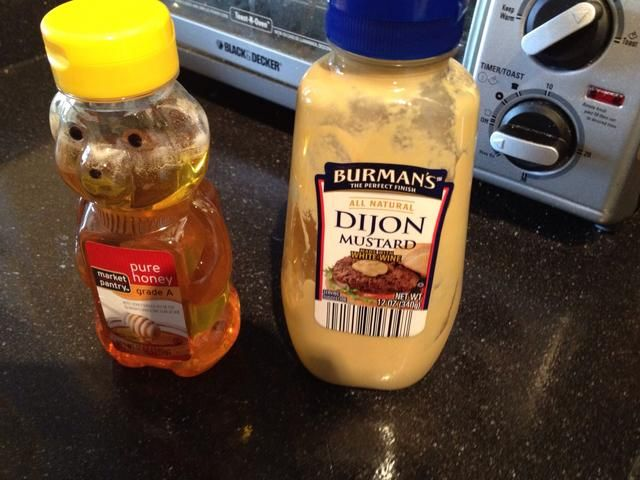 Mostaza y miel salsa de miel = 1 cucharada de mostaza 1 cucharada +