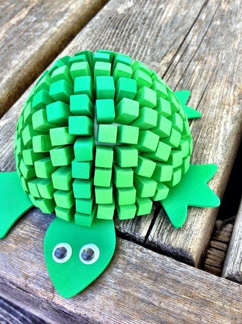Cómo hacer un fuera de la tortuga de espuma