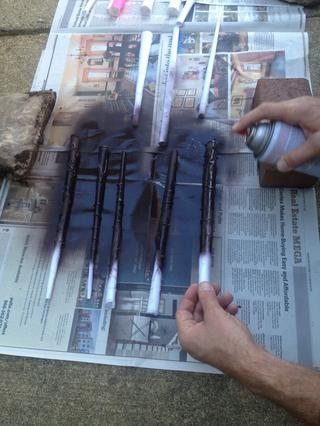 Pintura de aerosol una vez que todo el pegamento se seque