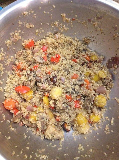 Cómo hacer un Veggie Cálido y quinoa