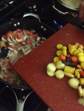 Zanahorias dados de lado