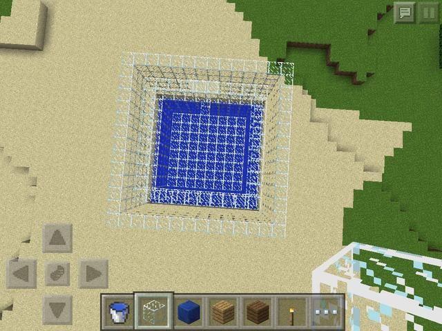 Haga una pared exterior 6 bloques