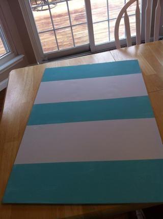 Después de la pintura de su cartulina quitar la cinta después de la pintura esté seca.