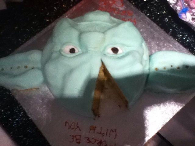 Cómo hacer una receta de pastel de Yoda