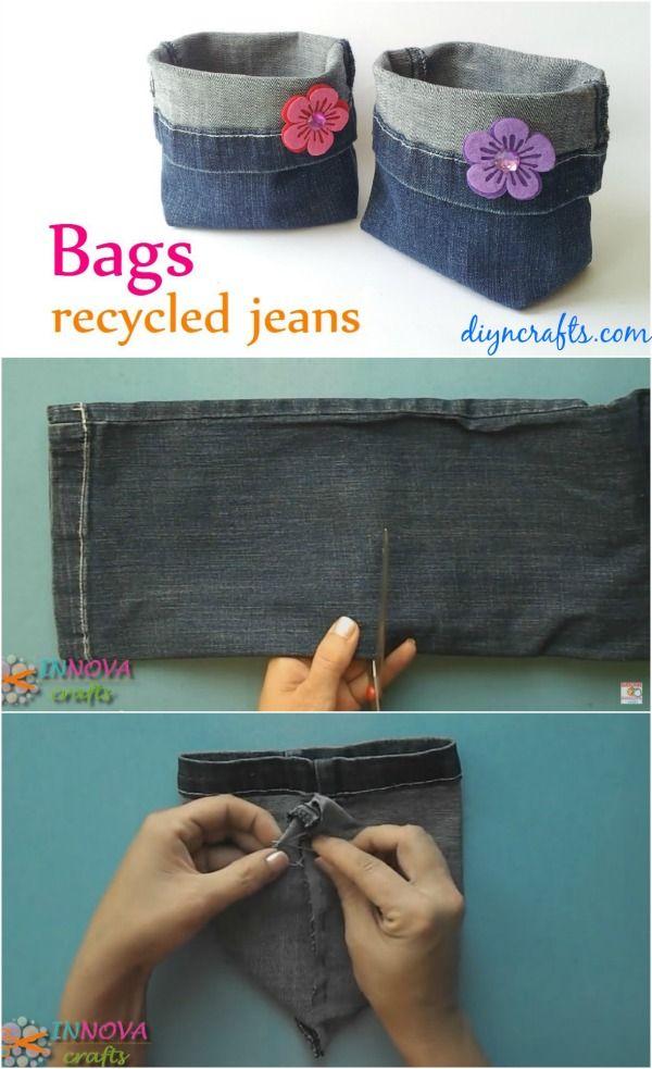 Cómo hacer bolsos adorables de reutilizar Jeans