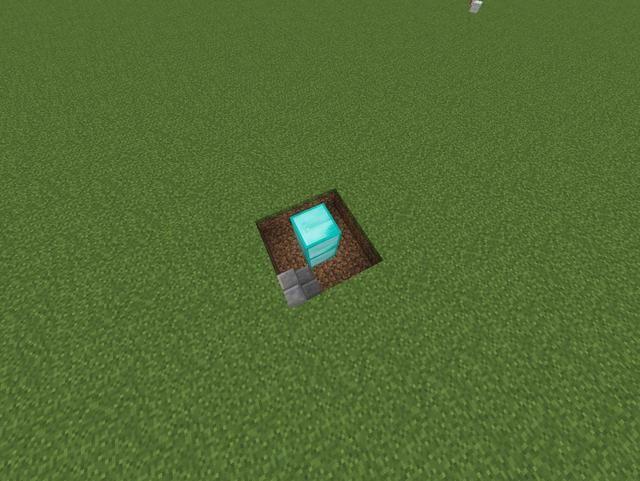 Hacer un pilar en el medio de lo que sea el bloque que desea. A continuación, coloque un tipo de escalera contra cualquier esquina como tal.