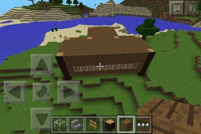Rellene los huecos con vidrio, construcción de los troncos y tablones por uno y crear la siguiente planta.