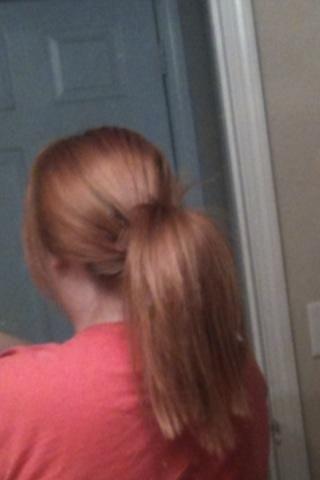 Esto es con mi pelo !! Mi cabello es mucho más grueso que mi modelo !!