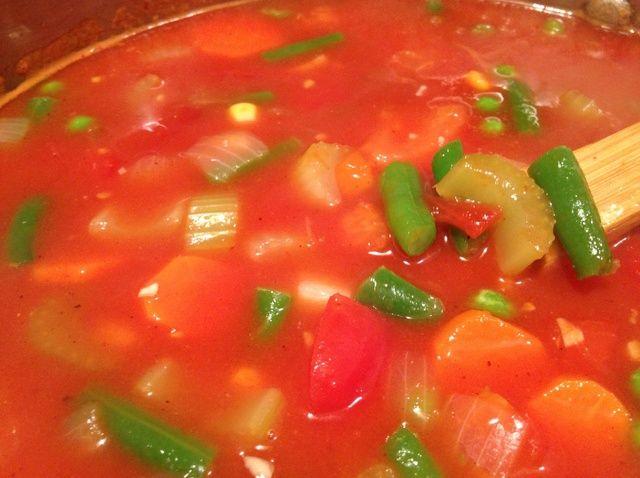 Cómo hacer un Fácil, caluroso Tomate Vegetal Receta de la sopa
