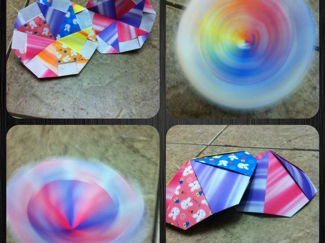 Cómo hacer un Origami Modular Fácil Spinning Disc / Top