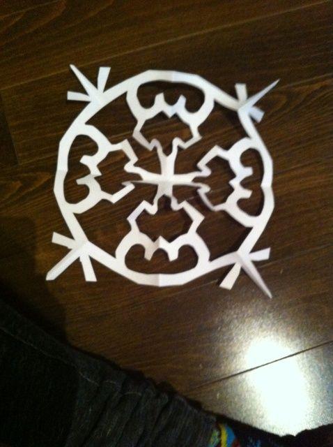 Cómo hacer un copo de nieve de papel Fácil