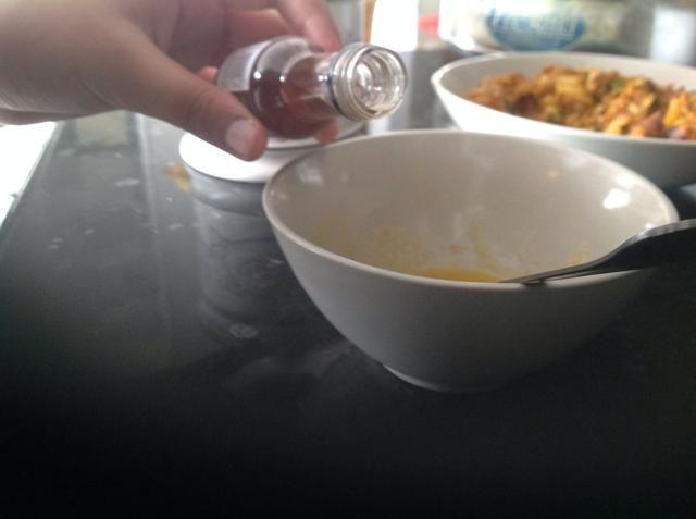 Añadir una tapa llena de vainilla