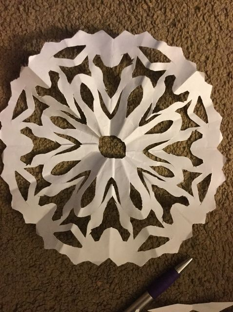 Fotografía - Cómo hacer un ocho caras del papel del copo de nieve