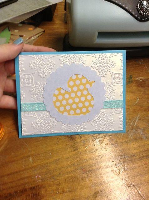 Cómo hacer una tarjeta elegante del bebé